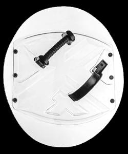 Circle police shield ASC-57-60-R